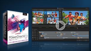 「PowerDirector 13 Ultimate Suite」 ~ 高速で柔軟な動画編集、音声編集と色調整ツールなどすべてを網羅! ~