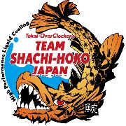 オーバークロック「TEAM SHACHI-HOKO」のロゴ。