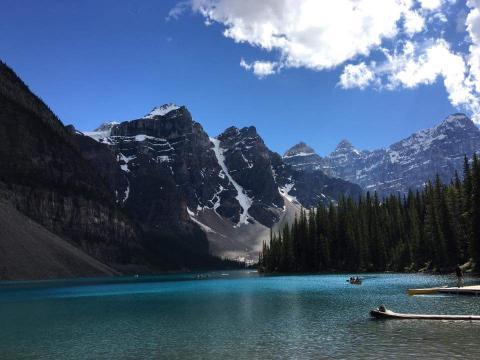 ロッキー・モレーン湖 初めての撮影プライベート旅行