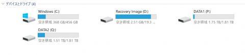 データドライブが大容量に