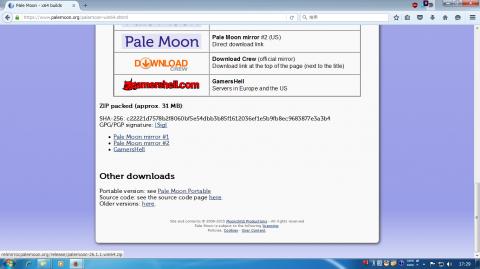 ダウンロードページに移動したら,まずは下のほうからZIPアーカイブ版を落として展開!