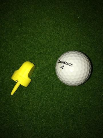 センサー本体(ゴルフボールとの比較)