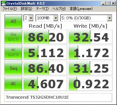 Crystal Disk Mark 4.0.3
