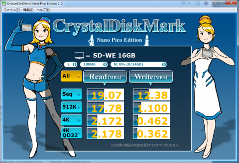 Crystal Disk Mark Nano Pico Edition