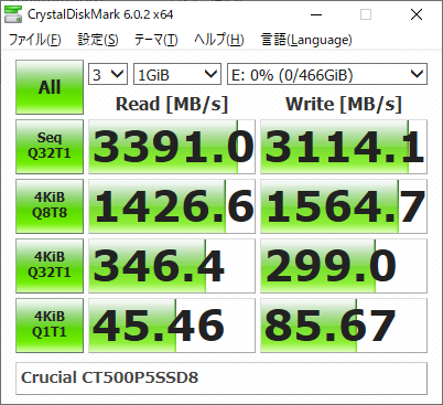 ▲Crucial CT500P5SSD8JP