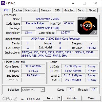 ▲CPU-Z(基本情報)