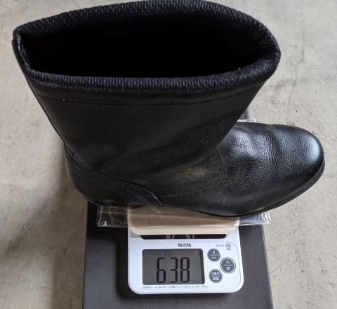 重量(半長靴)