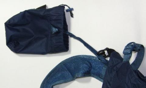 バックパック本体と収納用バッグ