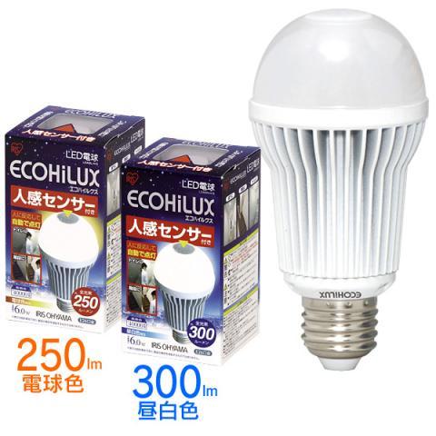 電球色は250ルーメン、昼白色は300ルーメン