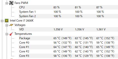 2600kOC4.2Ghz-CPU100%負荷1時間