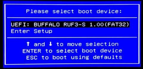 USBメモリからUEFIブート