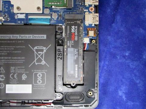 M.2 SSDの取付後
