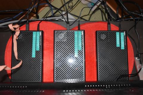 左2つがタイムシフト用、一番右が通常録画用(WD Blue3TB)