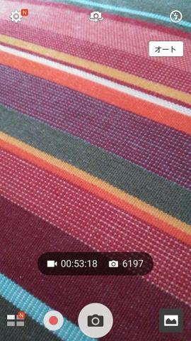 保存することができる動画が約 53:18 分で写真が 6,197 枚に増えた