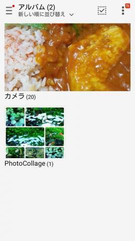 作成した写真はギャラリーで確認することができる