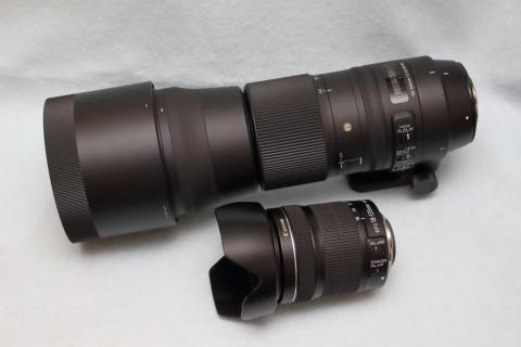 18-135mmとのサイズ比較