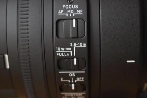 上から、FOCUSモード、AF範囲