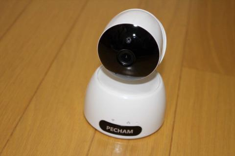 IPカメラ PECHAM スピーカー・マイク内臓 パソコン対応 スマホ ネットワークカメラ ペット子供見守り 暗視撮影