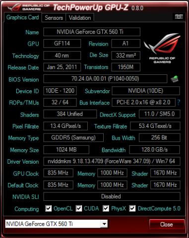 GTX560TiのGPU情報
