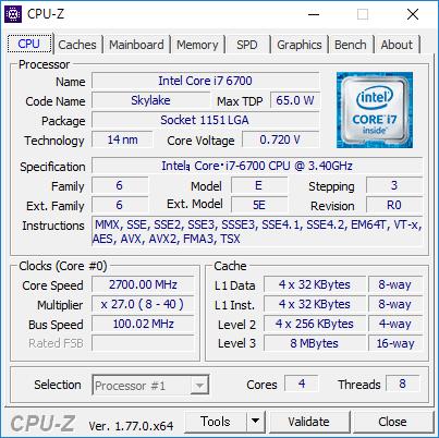Core i7-6700を搭載してみたところ