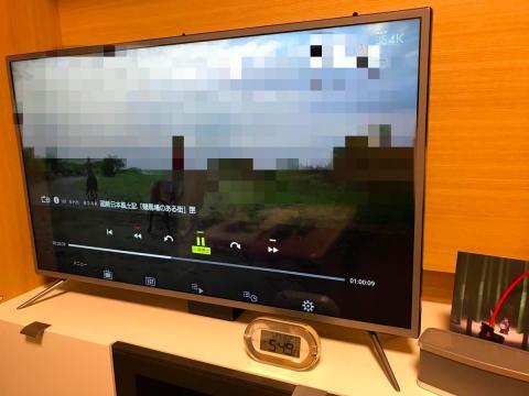 録画の再生。下側がメニュー画面で出る操作パネル