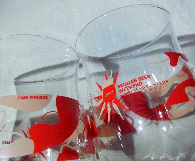 """年度の刻印の裏には""""TWO FINGERS""""と描かれているあたりが酒類専用グラス"""