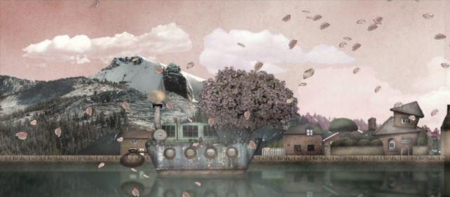 クレイ風の幻想的なアニメに、スガの影や手書きの効果が加えられる