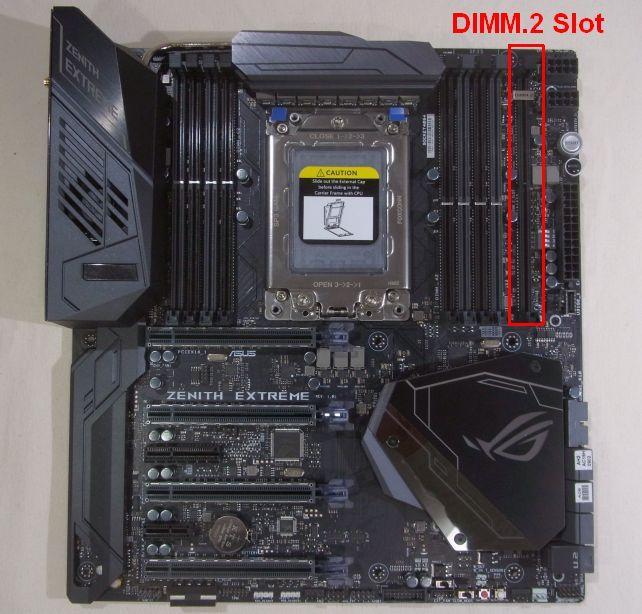 DIMM.2カードはここに挿す。