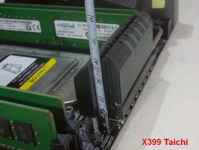 X399 Taichiでは一部のCPUクーラー取り付けで問題になるヒートシンクも...