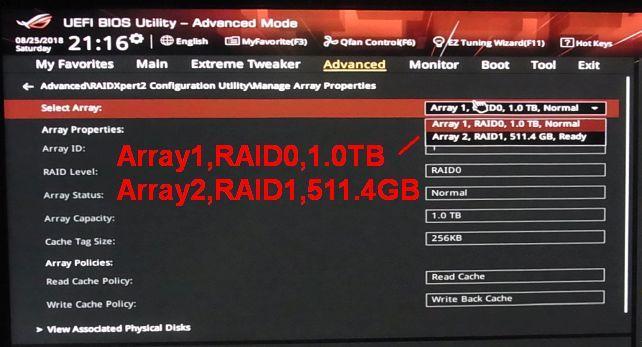 システムは合計1TBのRAID0、データ一時保管用は512GBのRAID1で構築