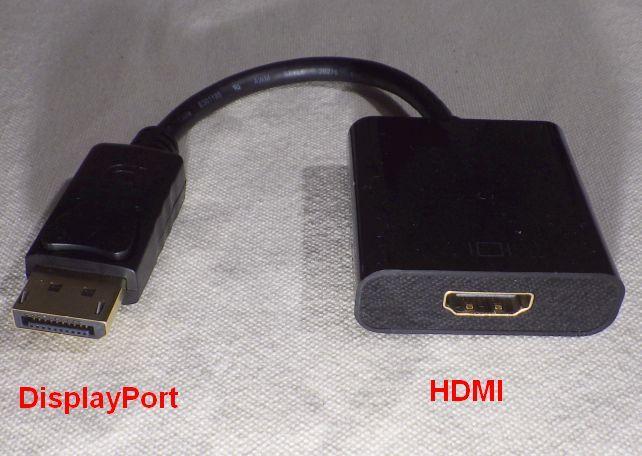 DisplayPort オス⇔HDMI メス