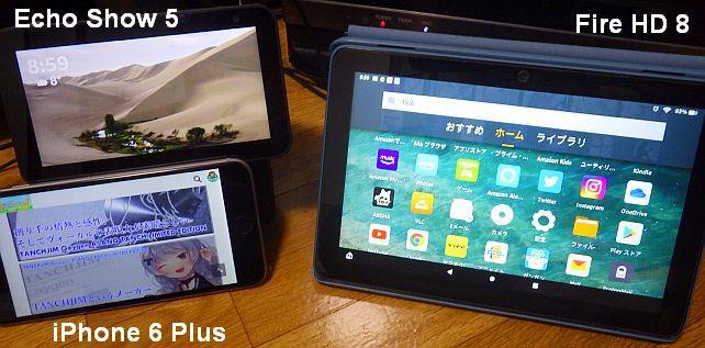 Fire HD 8より、iPhone 6 Plusに近い画面の大きさ