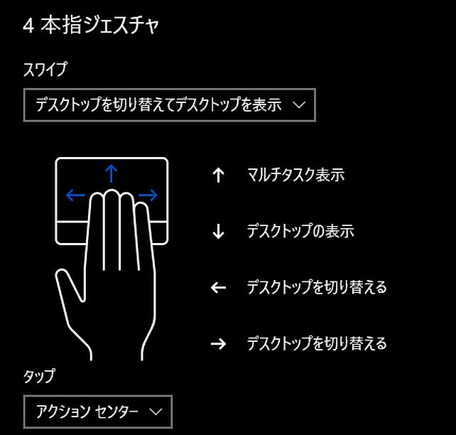 3本や4本指を使ったジェスチャにも対応