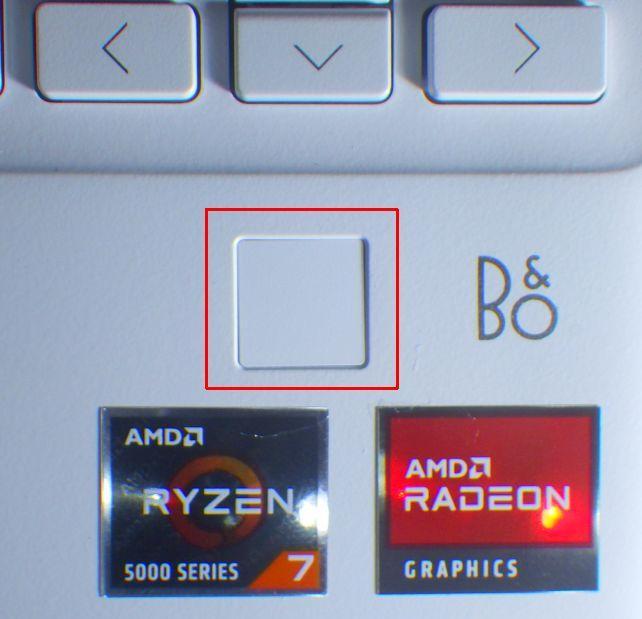 このキーボード右下にある□が指紋認証システム