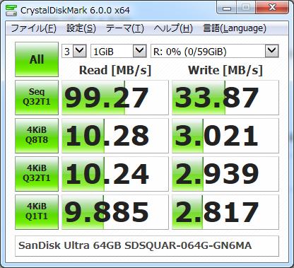 ▲Crystal Disk Mark 6.0.0