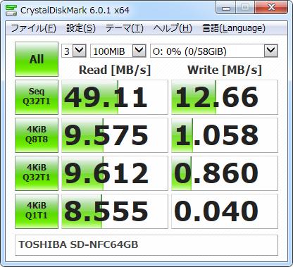 ▲Crystal Disk Mark 6.0.1