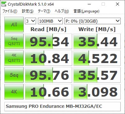 ▲Crystal Disk Mark 5.1.0