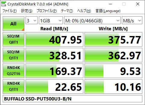 ▲Crystal Disk Mark 7.0.0