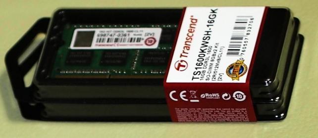 追加で組み込む物②メモリ8GB×2枚