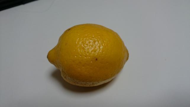 全体的に暗くなってしまったがくっきりとレモンが写ってる