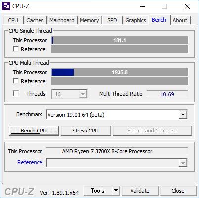 CPU-Z : Bench