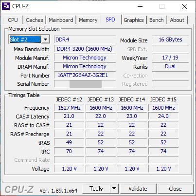 CPU-Z : SPD