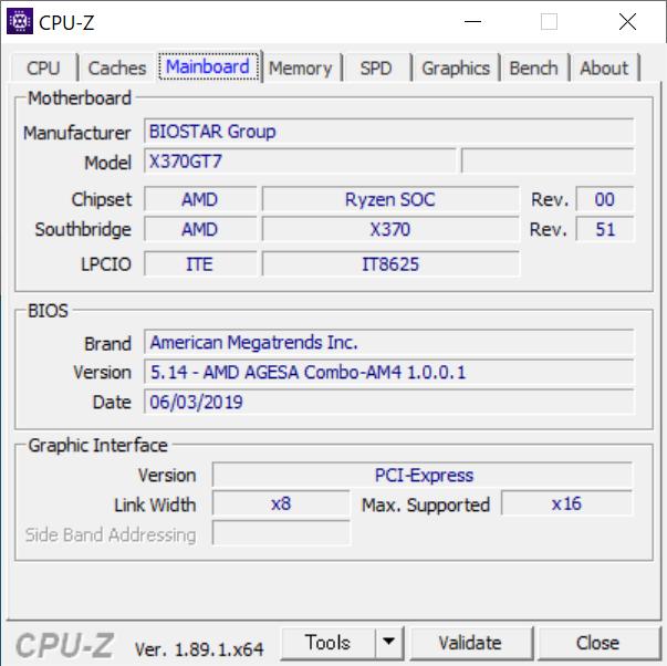 CPU-Z : Mainboard