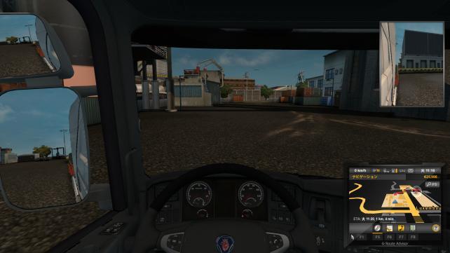 運転席。設定は「中」、通常30fpsでます