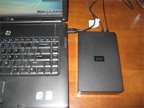外付けHDDを繋げる