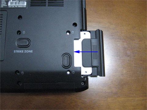 HDDのあったところへSSDを挿入
