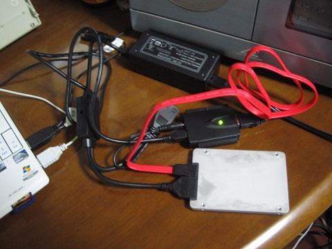 USB端子に接続