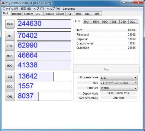 i7-2600のCM2004R3のスコアはこんなもの