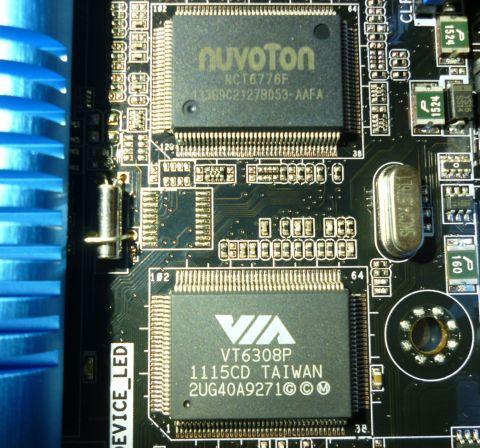 上に見えるNuvoton NCT6776FはSuper I/Oコントローラー