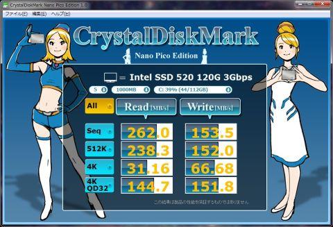 Read系はSSD320と大差なくなってしまったが、write系は特にRandam系が明らかに速い!